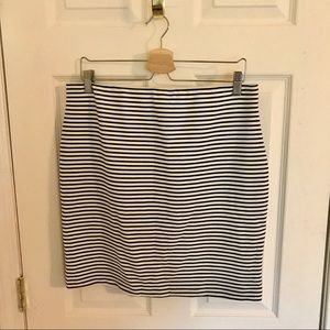 Black and White Fitted Skirt